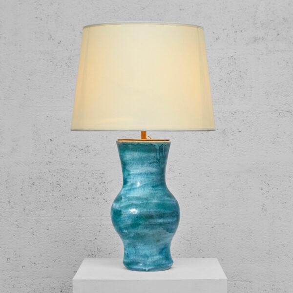 """Robert & Jean Cloutier, Vase """"Gigi"""" monté en lampe"""