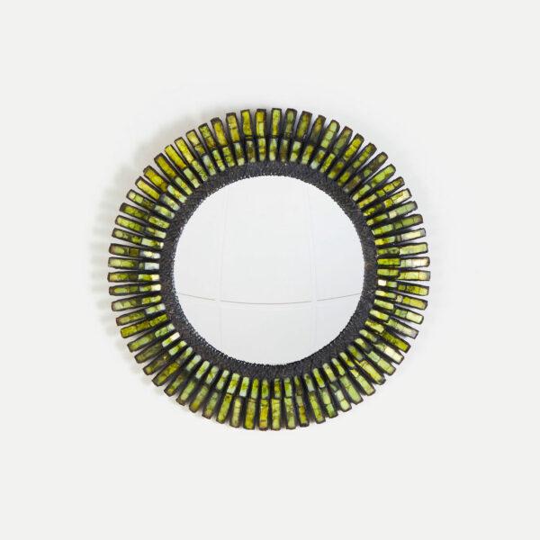 """Line Vautrin, Green """"Romain"""" mirror"""