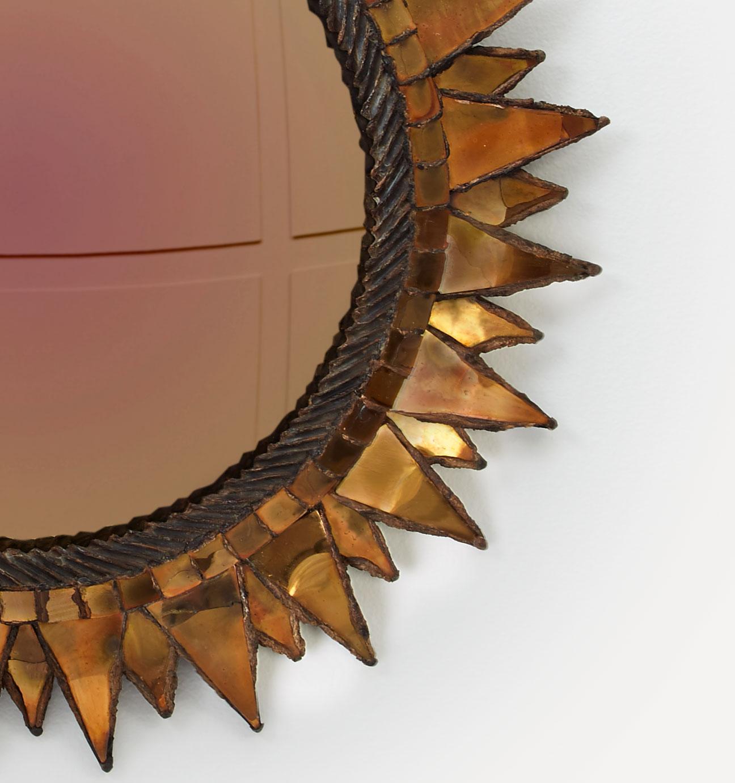"""Line Vautrin, Miroir """"Soleil à pointes"""", vue 02"""