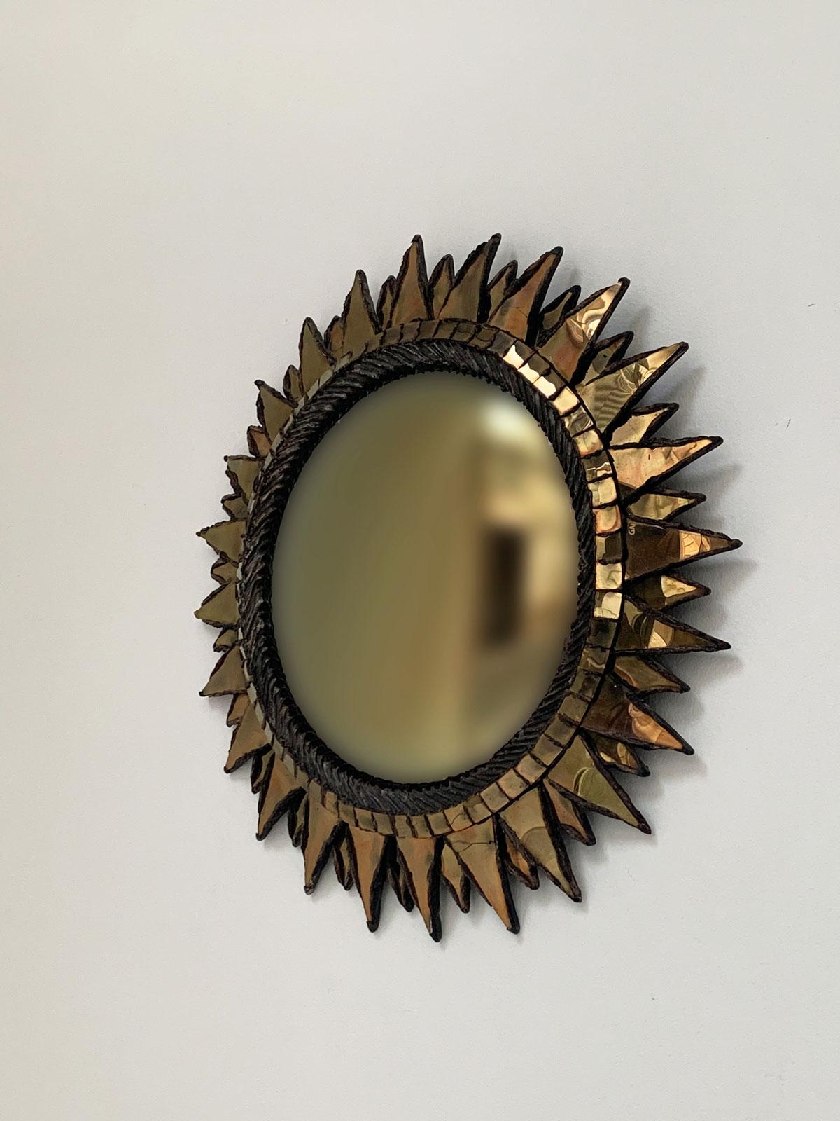 """Line Vautrin, Miroir """"Soleil à pointes"""", vue 01"""