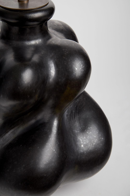 Georges Jouve, Importante lampe en céramique, vue 02