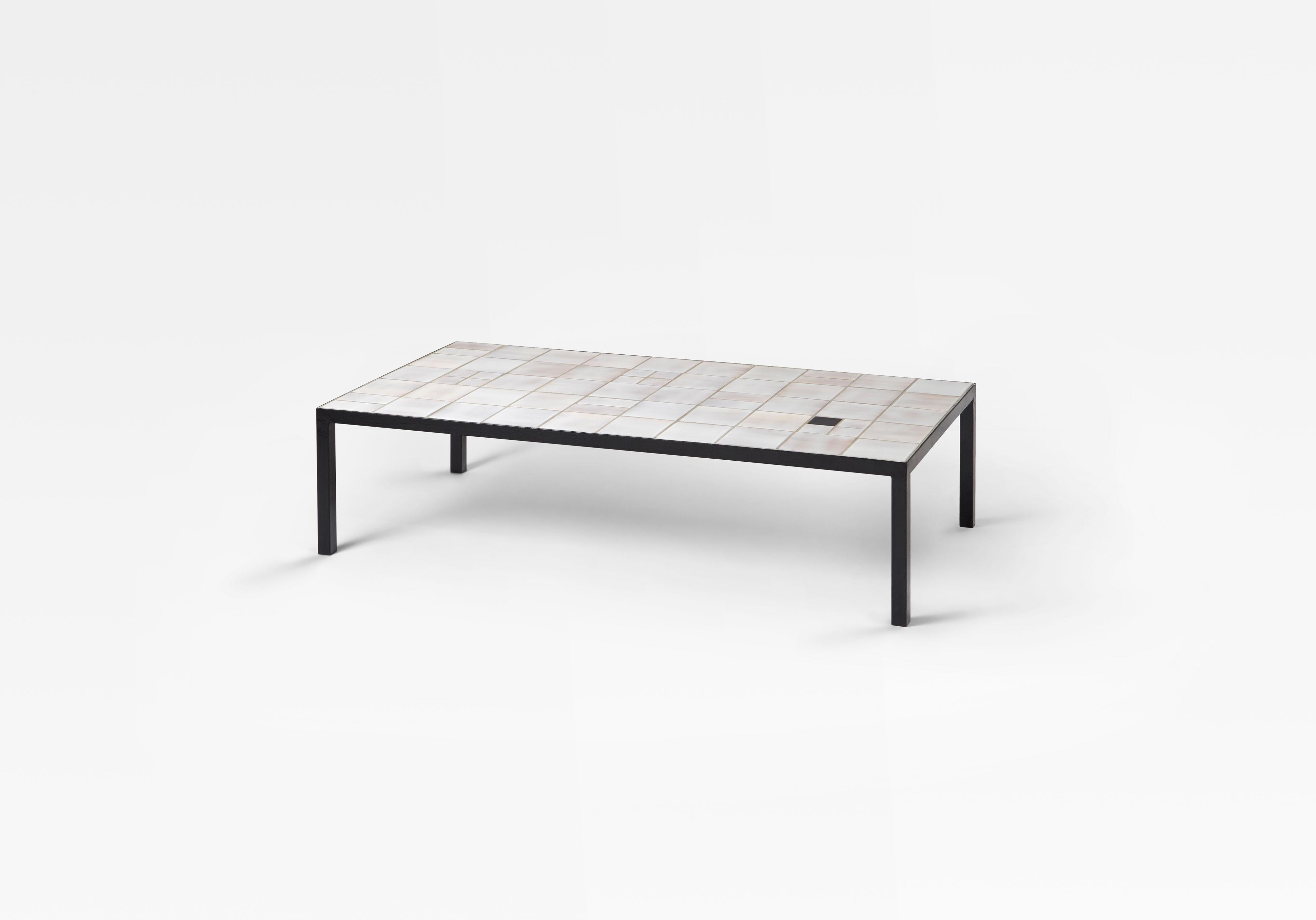 Georges Jouve, Table basse en céramique, vue 01