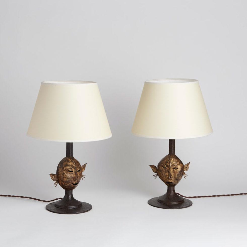 Jean-Charles Moreux, Paire de lampes, vue 01