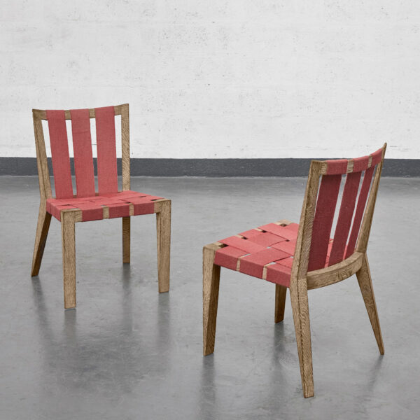 "Jean Royère, Set of 4 ""Sangles"" chairs"