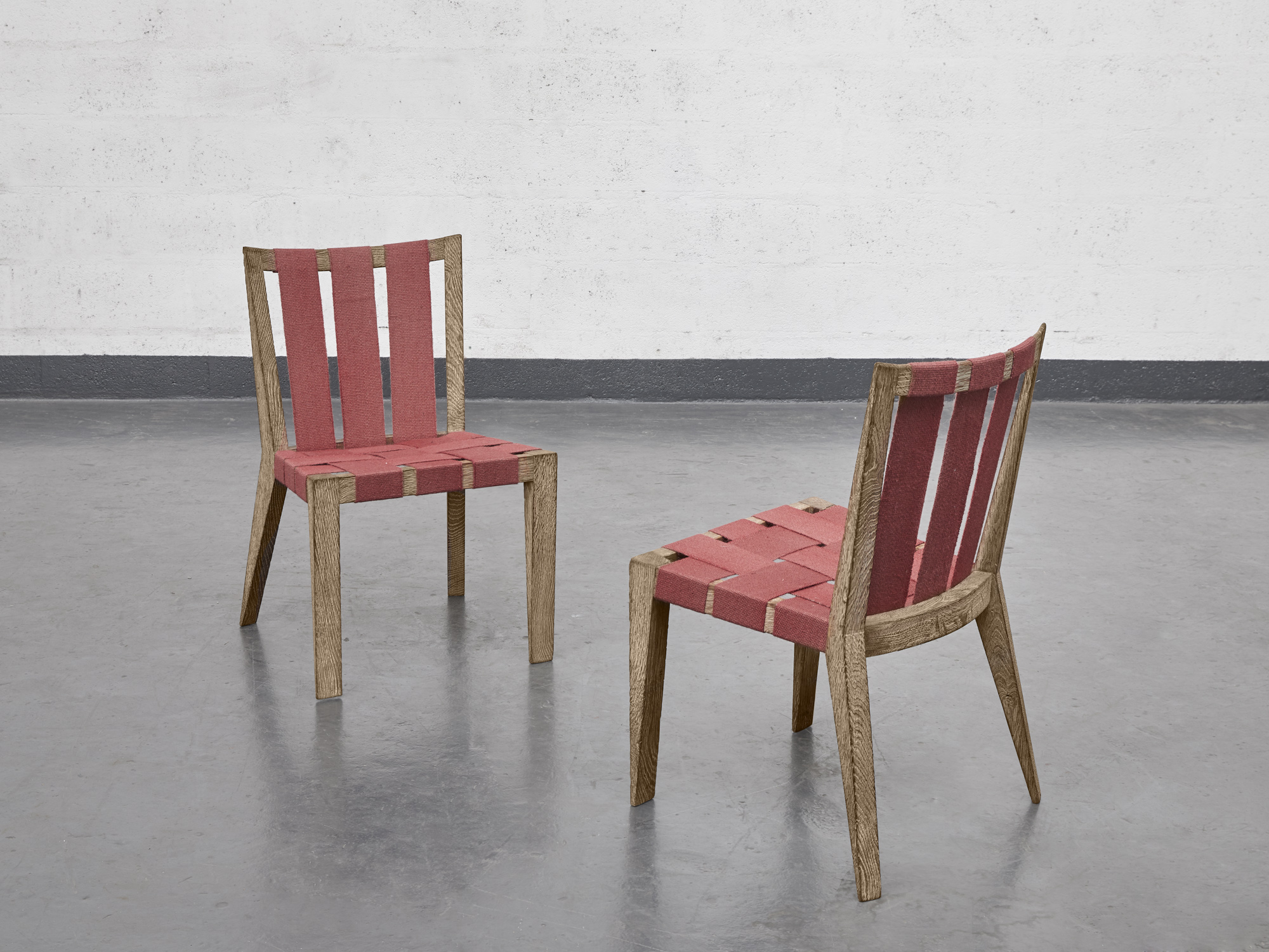 """Jean Royère, Set of 4 """"Sangles"""" chairs, vue 02"""