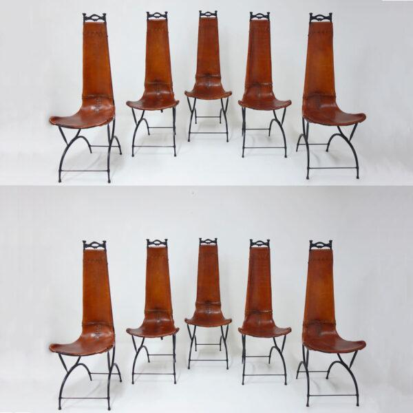 Francois Thevenin et Sido Thevenin, Ensemble de 10 chaises