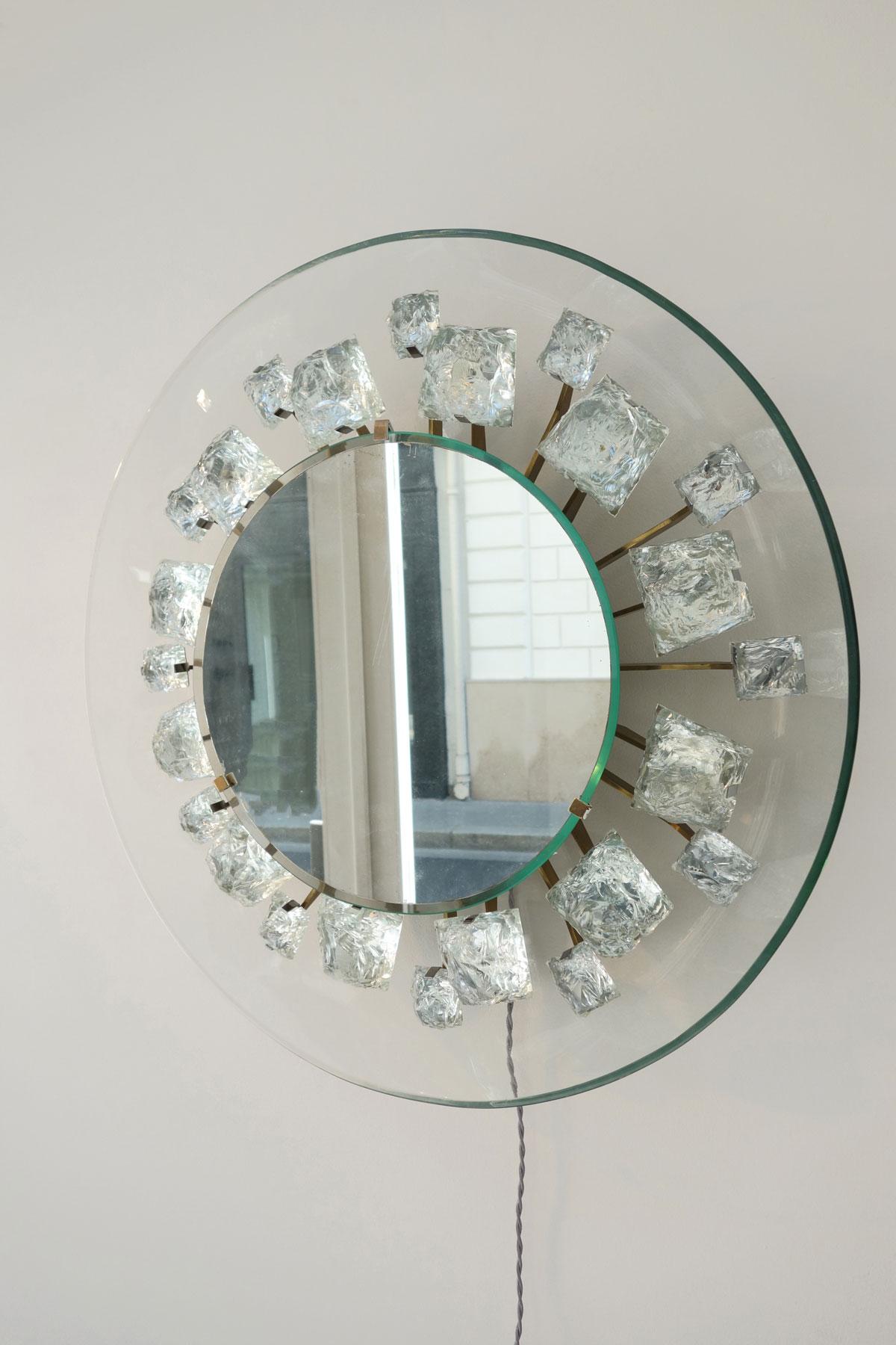 """Max Ingrand & Fontana Arte, Miroir """"Pistil"""", vue 02"""