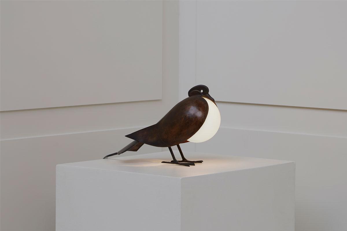 """François-Xavier Lalanne, Lampe """"Pigeon"""", vue 01"""