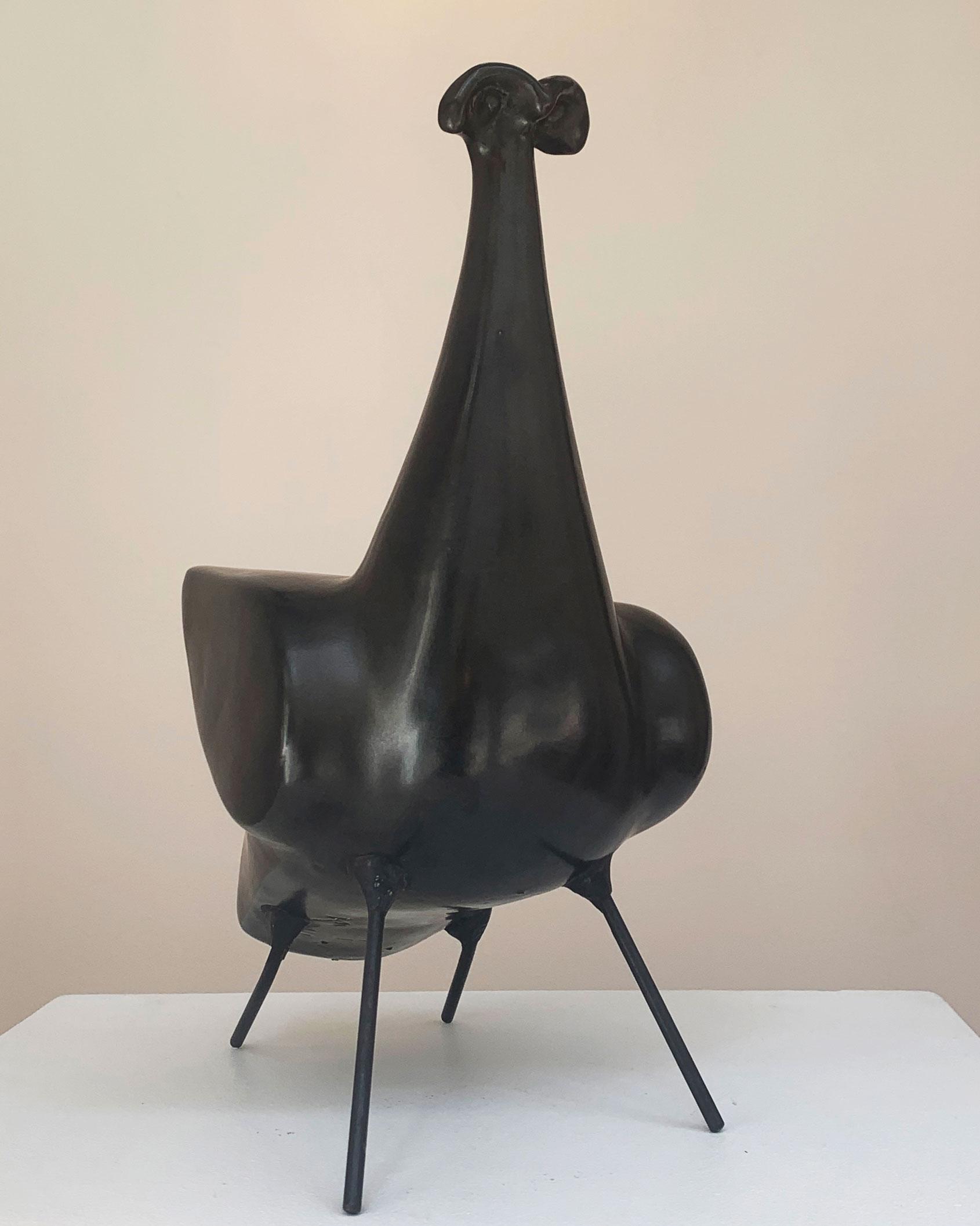 Georges Jouve, «4-legs bird» ceramic sculpture, vue 02