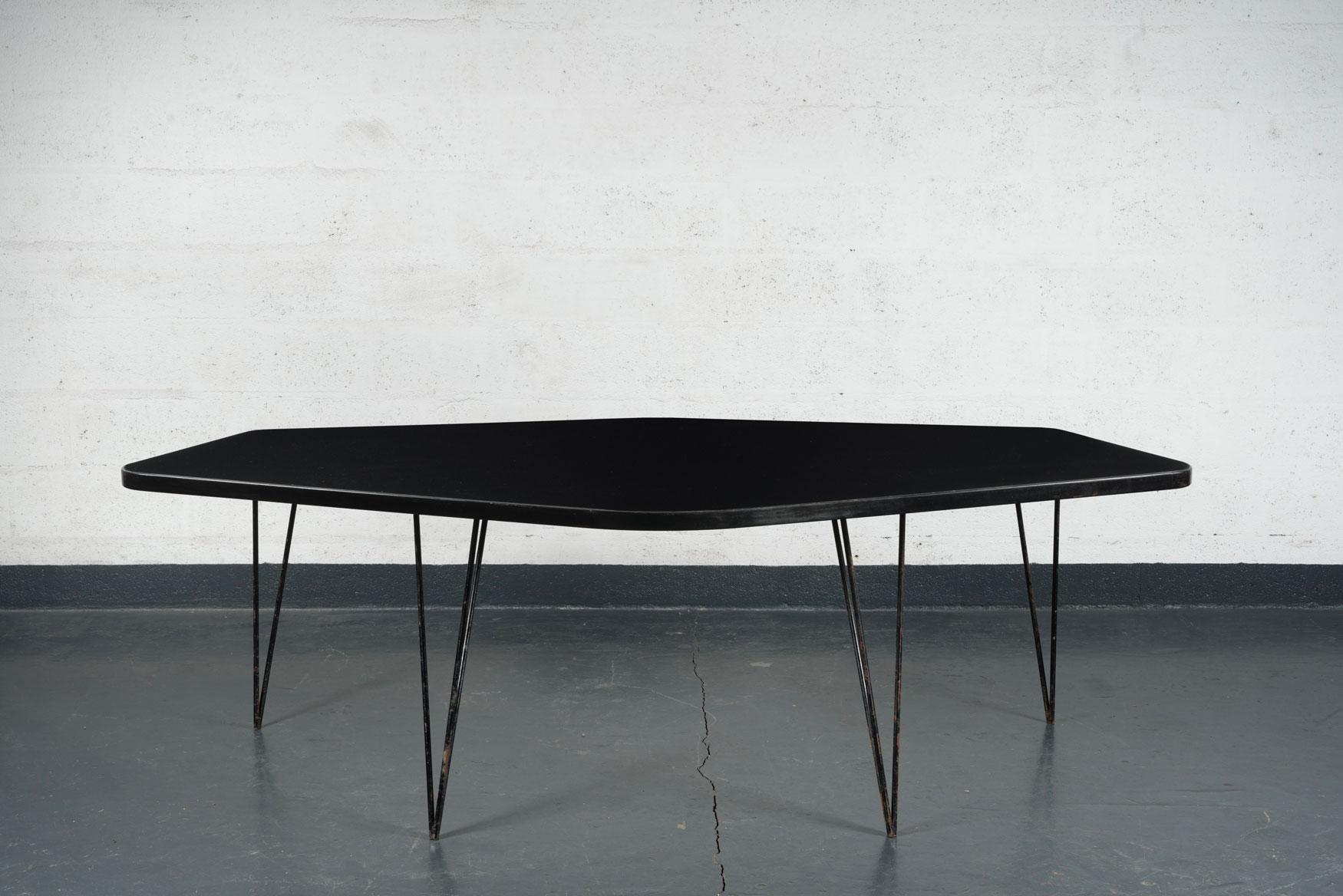 Joaquim Tenreiro, Importante et rare table «Abstrata», vue 02