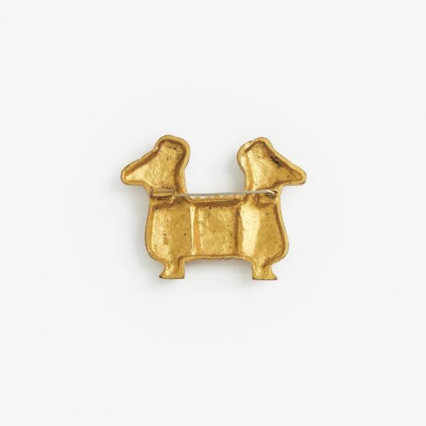 broche en bronze doré de line vautrin galerie chastel maréchal