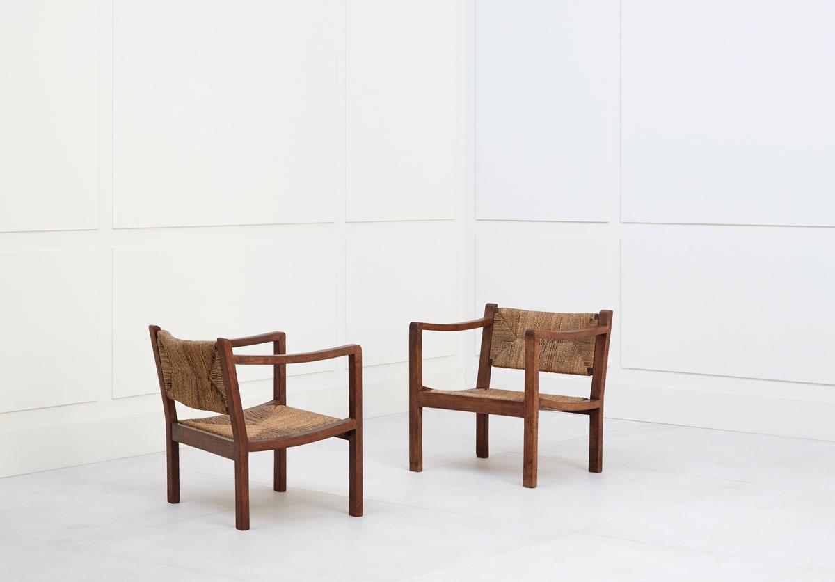 Eyre de Lanux, Paire de fauteuils, vue 01