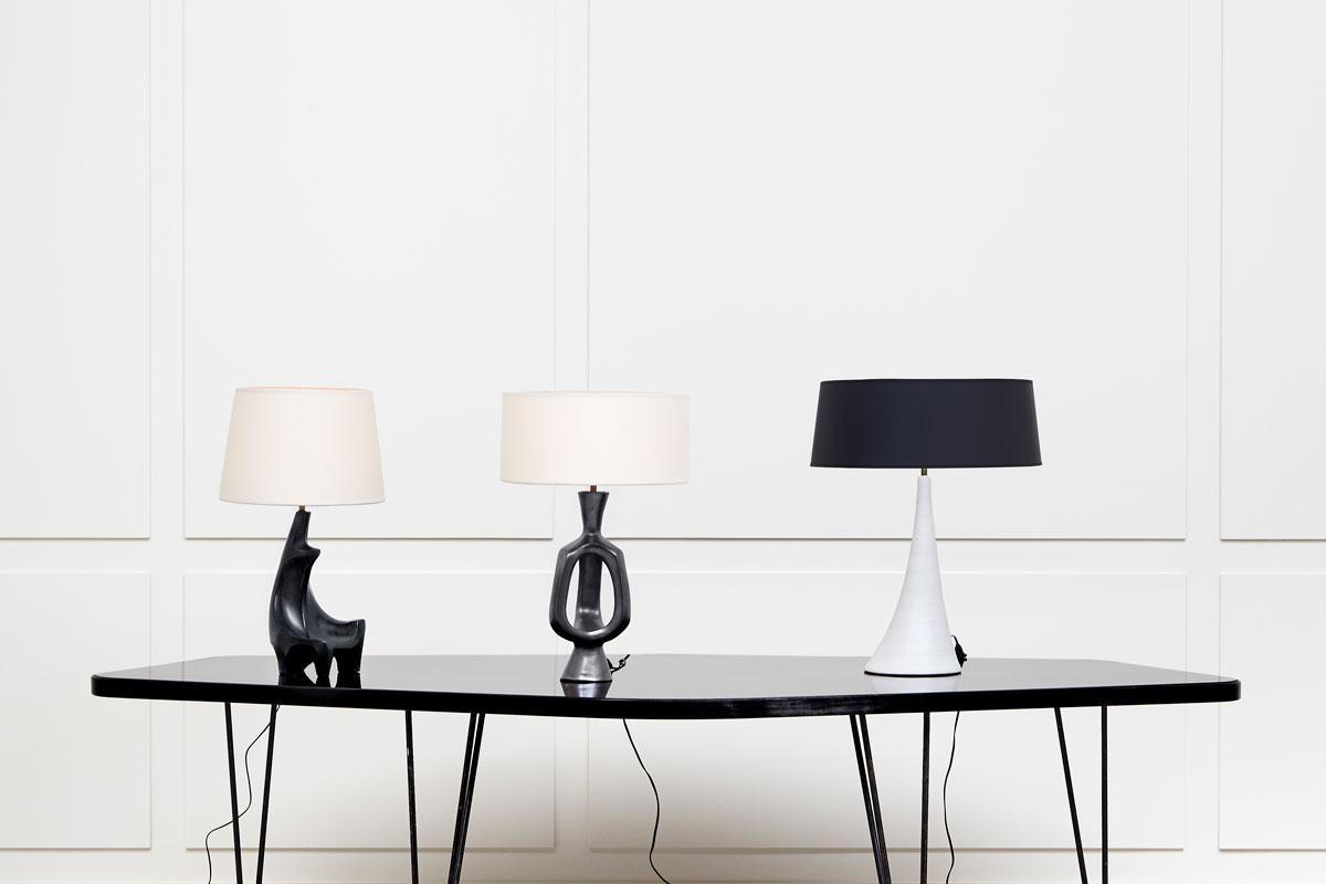 Georges Jouve, Lampe sculpturale en céramique, vue 02