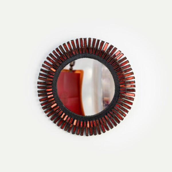 "Line Vautrin, Miroir ""Romain"" rouge"