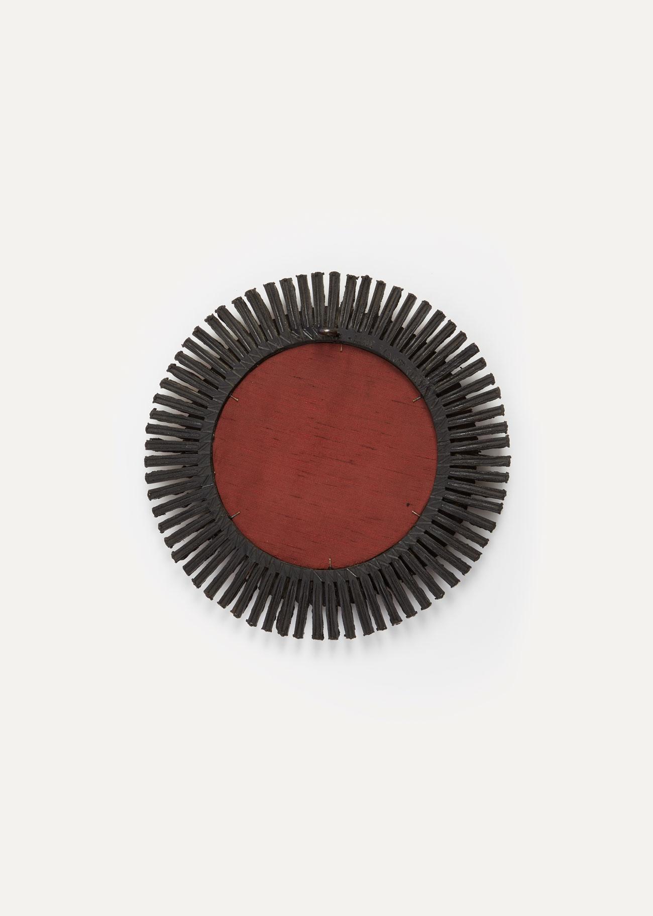"Line Vautrin, Miroir ""Romain"" rouge, vue 02"