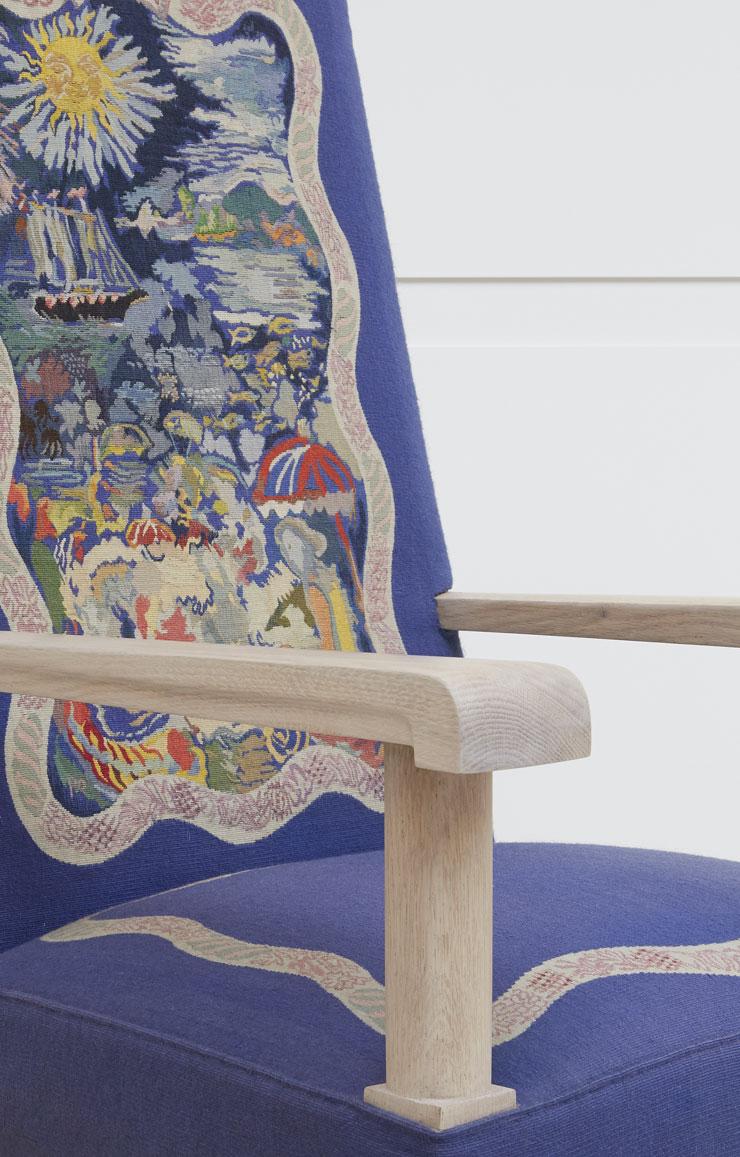 Jacques Adnet, Suite de quatre fauteuils «Les Quatre Saisons», vue 04
