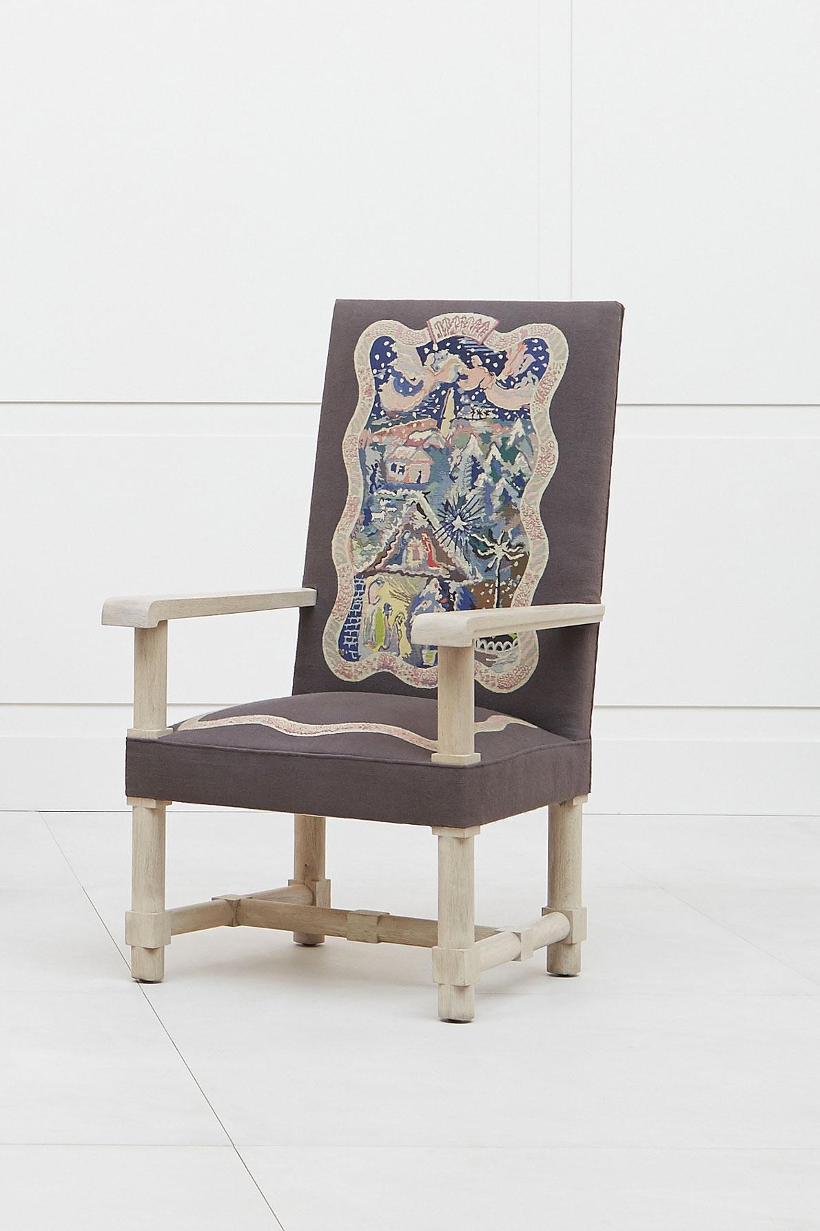 Jacques Adnet, Suite de quatre fauteuils «Les Quatre Saisons», vue 03