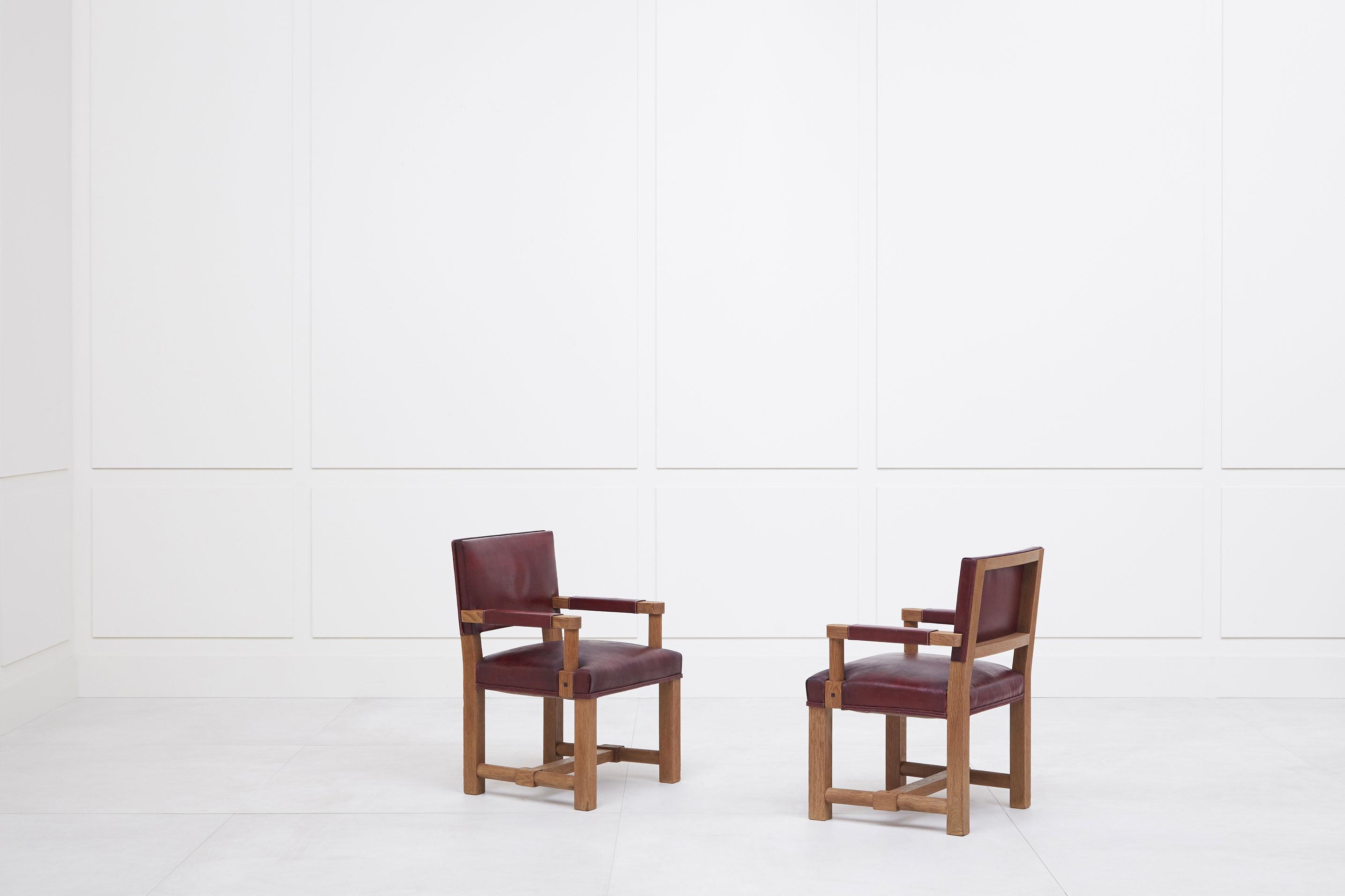 Paul Dupré-Lafon, Paire de fauteuils, vue 01