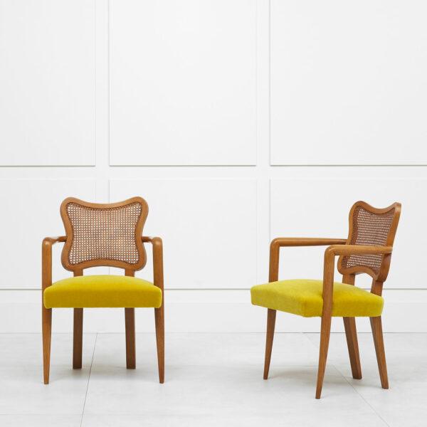 Jean Royère, Paire de fauteuils «Trèfle»
