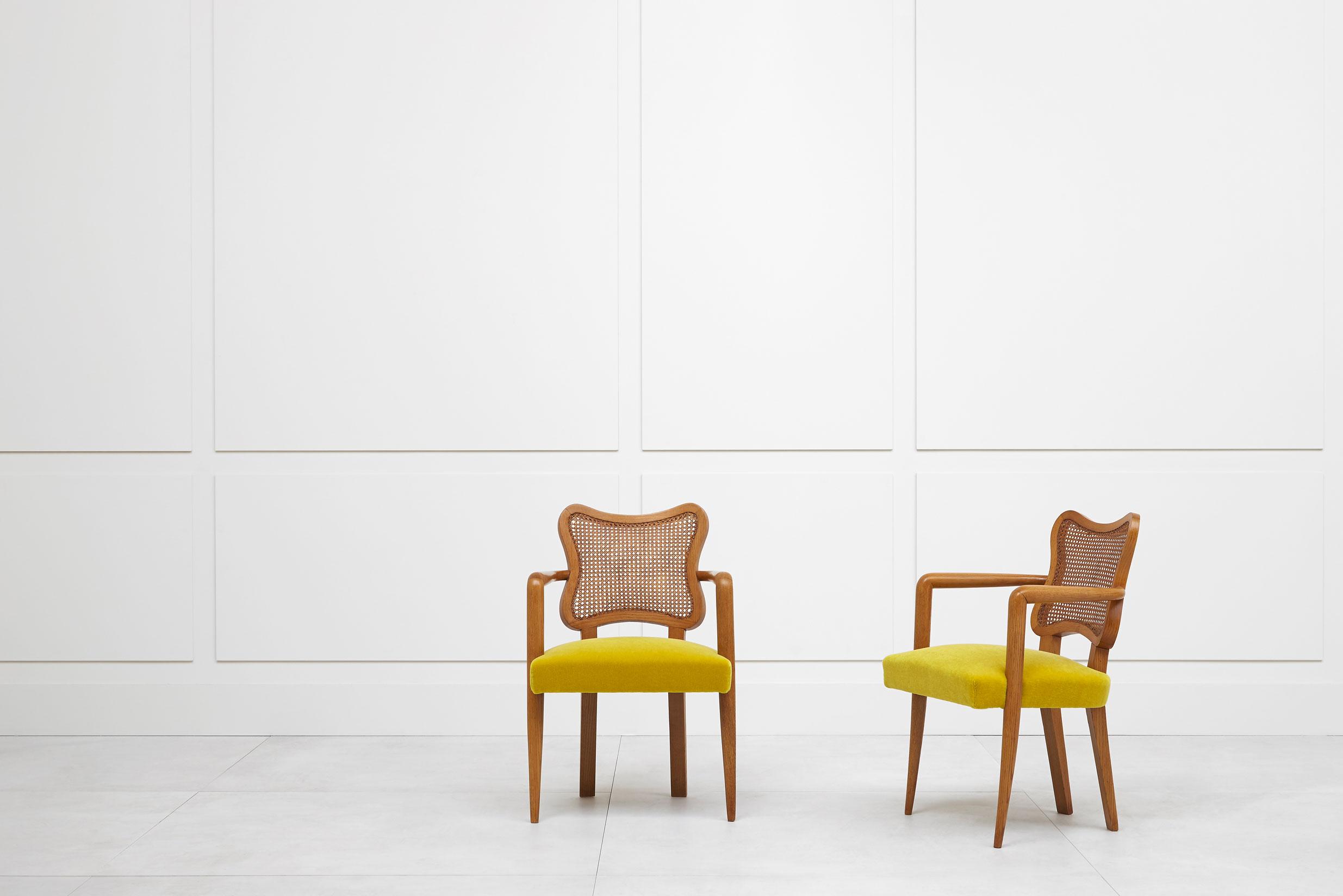 Jean Royère, Pair of «Trèfle» armchairs, vue 01